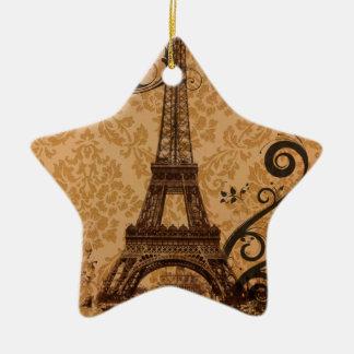 Vintager Damast böhmischer Turm Chic-Paris Eiffel Keramik Ornament