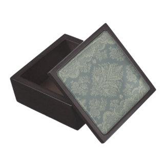 Vintager Damast im antiken Grün Schachtel