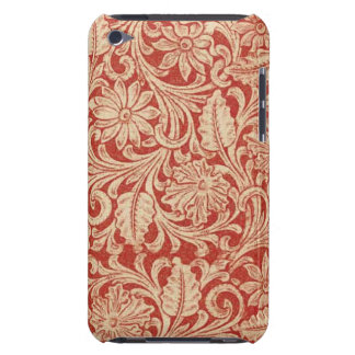 Vintager Damast-rote Case-Mateipod-mit BlumenTouch iPod Touch Hülle
