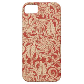 Vintager Damast-rotes Case-Mate mit BlumeniPhone 5 iPhone 5 Cover