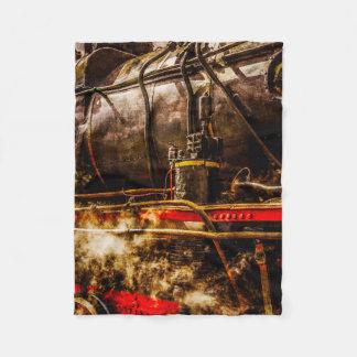Vintager Dampf-Zug - im Dampf Fleecedecke