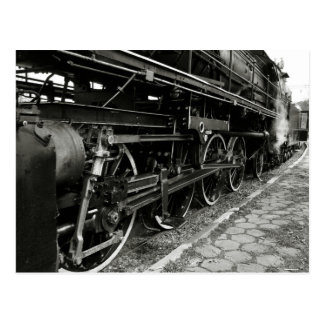 Vintager Dampf-Zug Postkarte