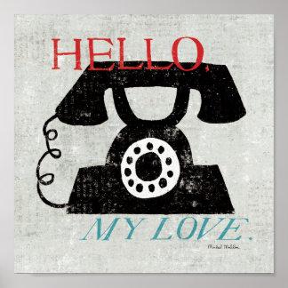 Vintager Desktop - Telefon Poster