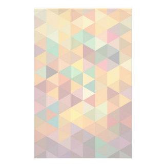 Vintager Dreieck-Muster-Hintergrund Individuelles Büropapier