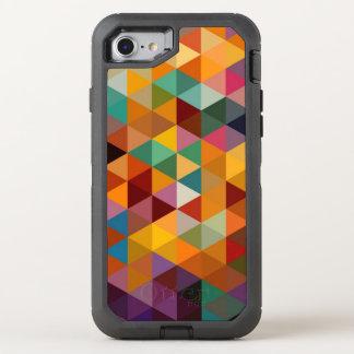 Vintager Dreieck-Muster-Hintergrund OtterBox Defender iPhone 8/7 Hülle