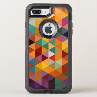 Vintager Dreieck-Muster-Hintergrund OtterBox Defender iPhone 8 Plus/7 Plus Hülle