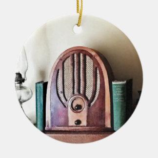 Vintager Dreißigerjahre Radio Keramik Ornament