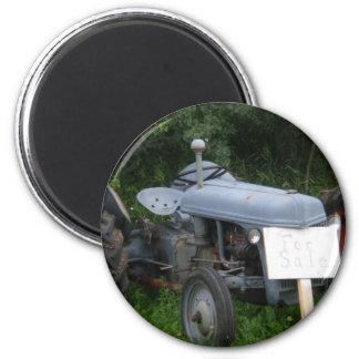 Vintager düsterer blauer Traktor Magnets