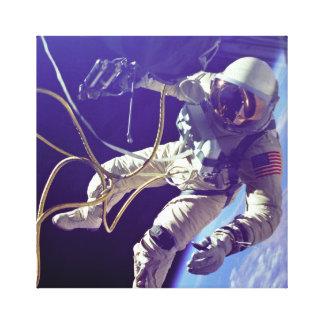 Vintager Ed-Weißzuerst amerikanischer Spacewalk Leinwanddruck