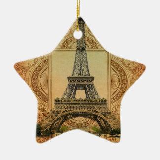 Vintager Eiffel-Turm des modernen girly Keramik Ornament