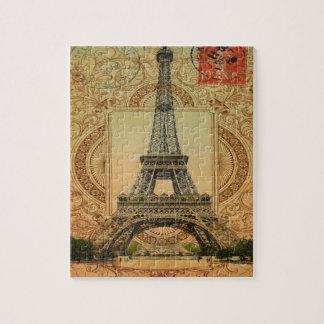 Vintager Eiffel-Turm des modernen girly Puzzle