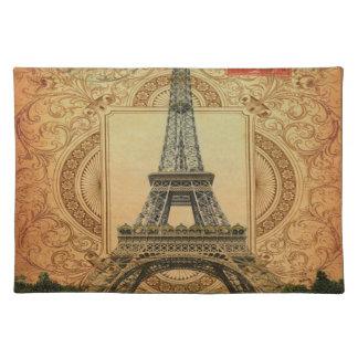 Vintager Eiffel-Turm des modernen girly Stofftischset