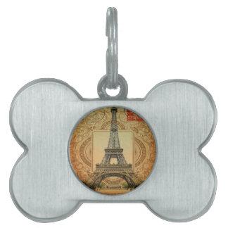 Vintager Eiffel-Turm des modernen girly Tiermarke