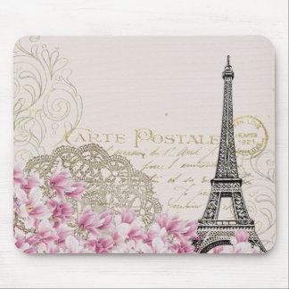 Vintager Eiffel-Turm-Druck Mousepads