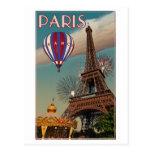 Vintager Eiffel-Turm Postkarte