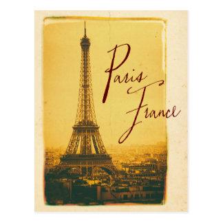 Vintager Eiffel-Turm Postkarten