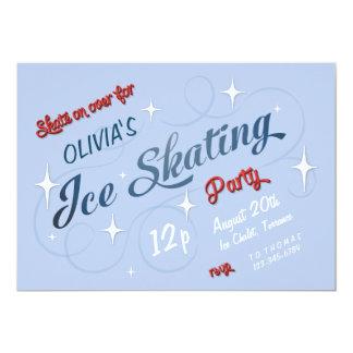 Vintager Eis-Skaten-Party-Geburtstag Karte