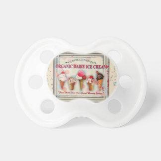Vintager Eiscremewohnzimmer-Zeichenbaby-Schnuller Schnuller