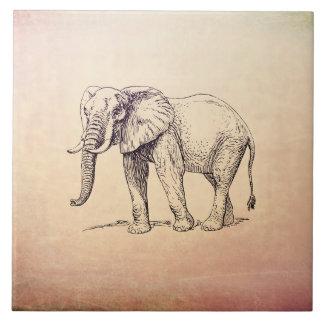 Vintager Elefant Keramikfliese