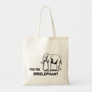 Vintager Elefant sind Sie irrELEPHANT Tasche