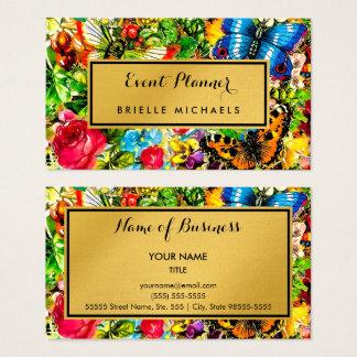 Vintager eleganter Imitat-Goldereignis-mit Visitenkarte