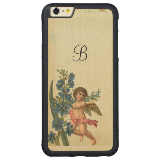 Vintager Engel-Engel Carved® Maple iPhone 6 Plus Bumper Hülle