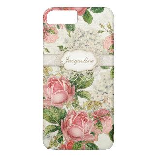 Vintager englischer Rosen-Spitzen iPhone 8 Plus/7 Plus Hülle