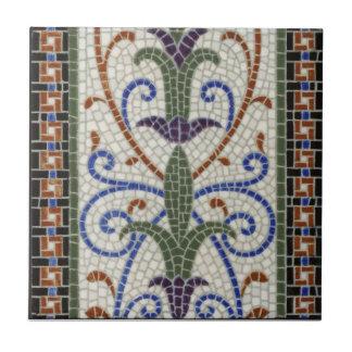 Vintager Entwurf der Mosaik-Fliesen-c1890 Keramikfliese