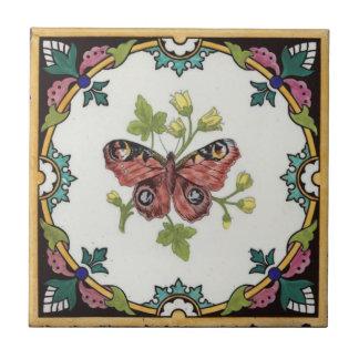 Vintager Entwurf der Natur-Studien-Fliesen-c1872 Keramikfliese