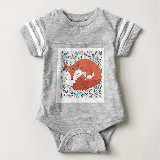 Vintager entzückender niedlicher Mutterfuchswolf Baby Strampler