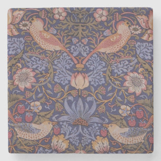Vintager Erdbeerdieb Williams Morris Steinuntersetzer
