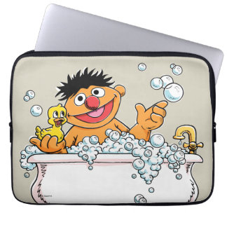 Vintager Ernie in der Badewanne Laptop Sleeve