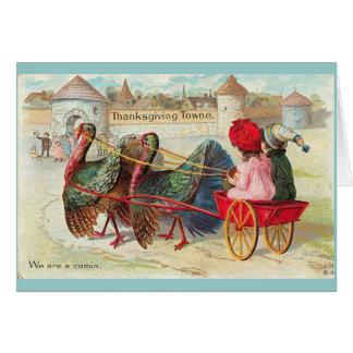 Vintager Erntedank Karte
