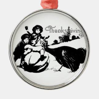 Vintager Erntedank Silbernes Ornament