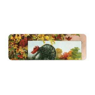 Vintager Erntedank, wilde Truthahn-Herbst-Farben