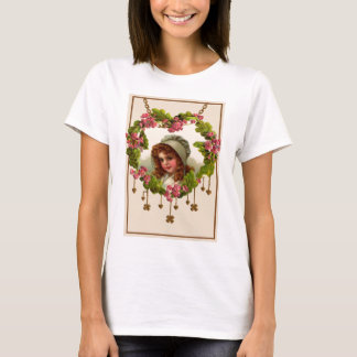Vintager ErstKleeblattwreath-St Patrick Tag Ca T-Shirt
