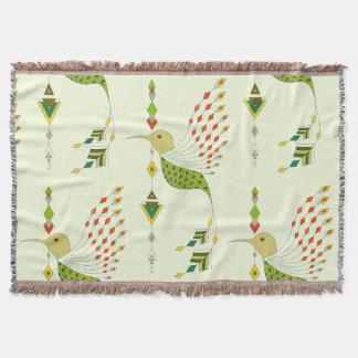Vintager ethnischer Stammes- aztekischer Vogel Decke