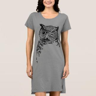Vintager Eulen-Vogel-T - Shirt