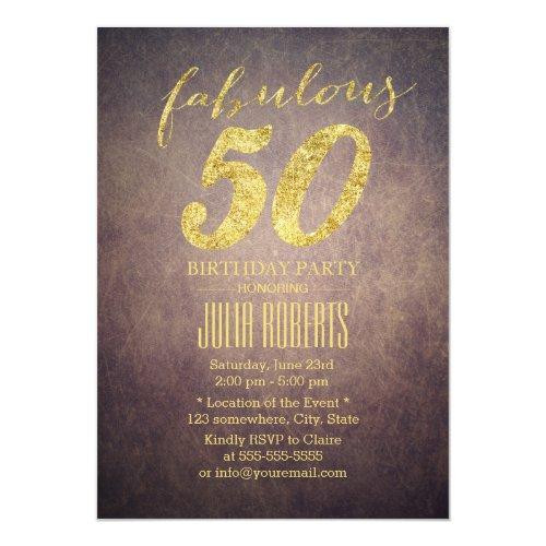Vintage Einladungen Zum 50 Geburtstag Meine Einladungskarten De