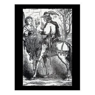 Vintager feenhafte Geschichten-Prinz auf weißes Pf