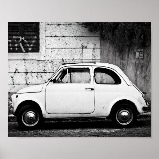 Vintager Fiat 500, Cinquecento, in Rom, Italien Poster