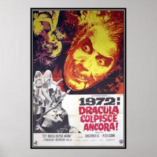 Vintager Film-Horror - Posterdruck