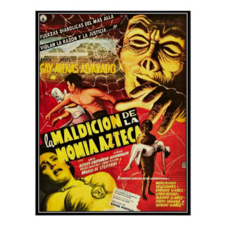 Vintager Film-Horror - Plakatdrucke