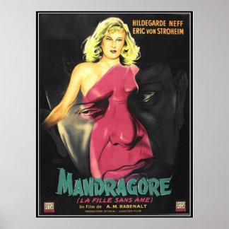 Vintager Film-Horror - Plakatdruck