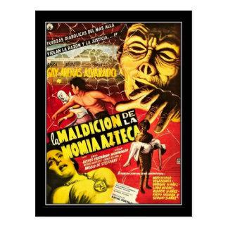 Vintager Film-Horror - Postkarte
