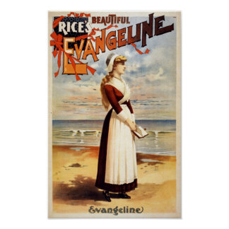 Vintager Film-Plakat-Druck schönes Evangeline