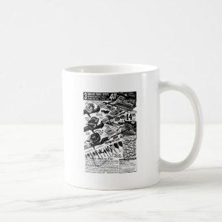 Vintager Fischerei-Gerät-Anzeigen-KlassikerKitsch Kaffeetasse