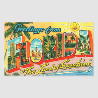 Vintager Florida-Aufkleber