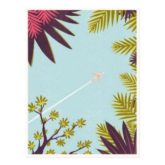 Vintager Flugzeugverkehr Postkarte