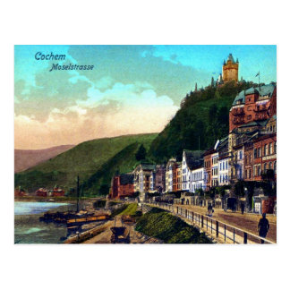 Vintager Fluss 1900 Ca Cochem Moselstrasse Mosel Postkarte